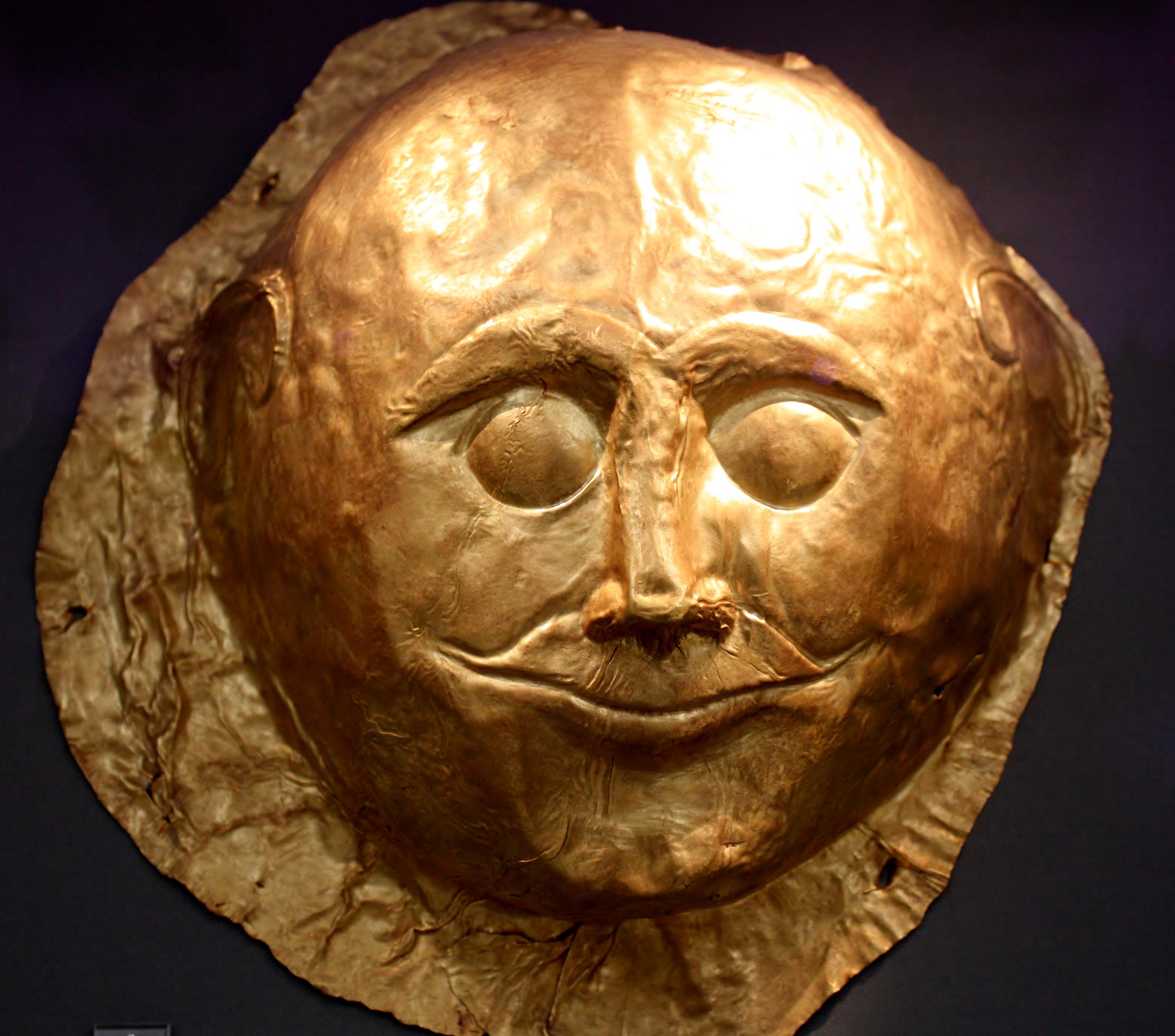 Death mask of agamemnon.