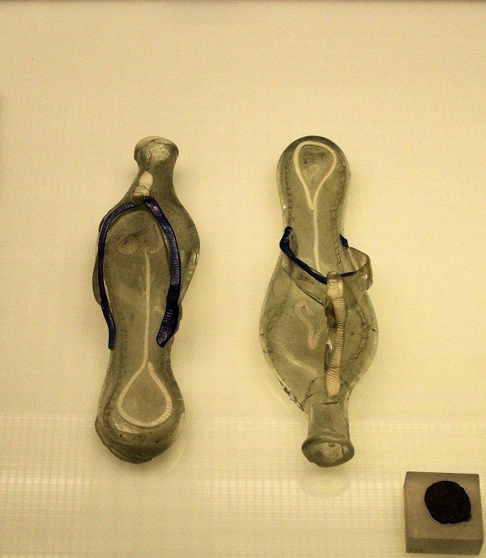Roman Glass Grave Slippers