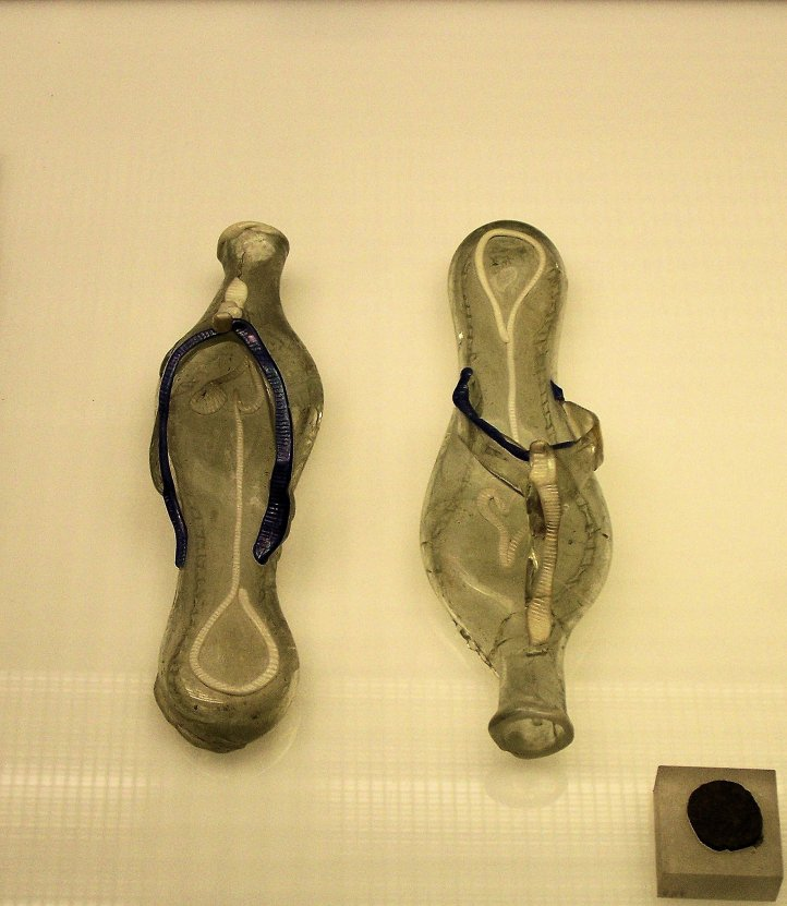 Roman Glass Grave Slippers