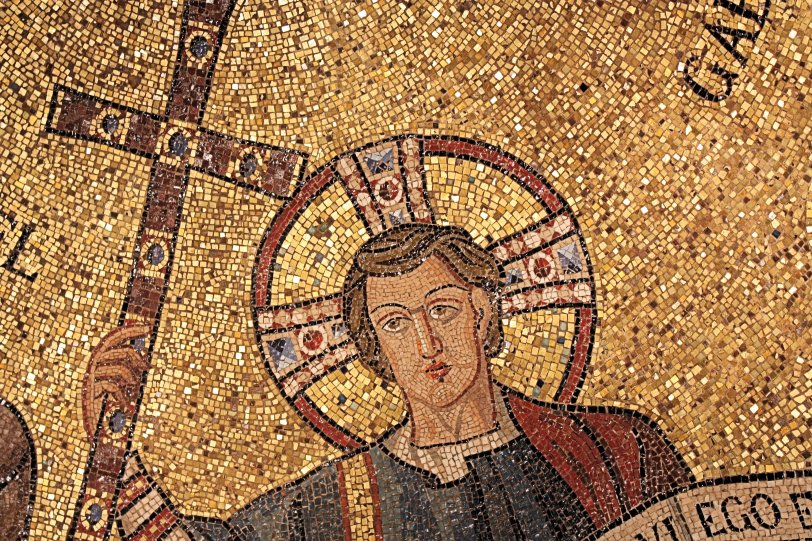 Church of San Michele in Africisco Mosiac from Ravenna in Bode Museum Berlin Detail