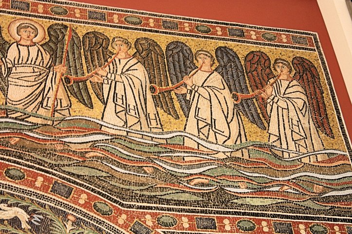 Detail of Church of San Michele in Africisco Mosiac from Ravenna in Berlin