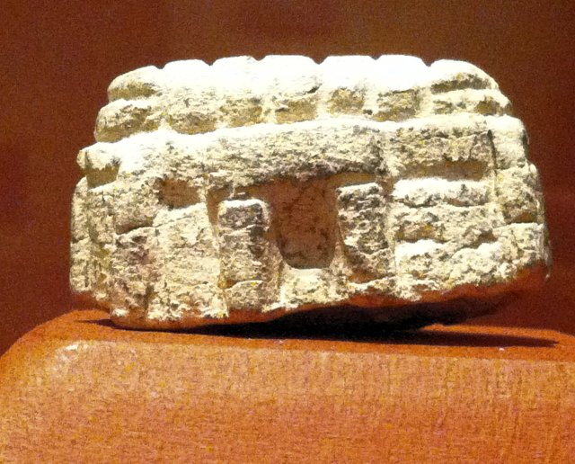 Miniature limestone megalithic temple from Malta